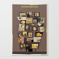 archiwindow building Canvas Print