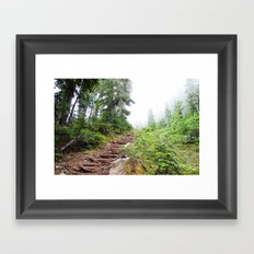 Trail to the Sky Framed Art Print