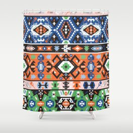 Tribal chic seamless colorful patterns Shower Curtain