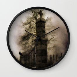 Old Cemetery Gate Wall Clock