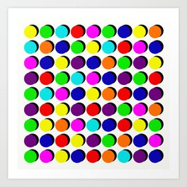 Pick A Colour, Push A Button Art Print