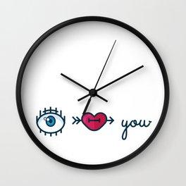 Eye Heart You Wall Clock