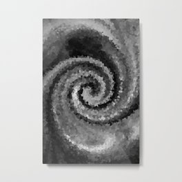 Black and white Spiral Metal Print
