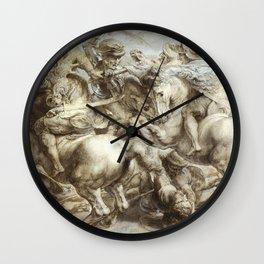 Freize by Leonardo Da Vinci Wall Clock