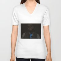 jay z V-neck T-shirts featuring Jay-Z (Texture) by Shyam13