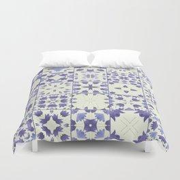 Flower Bell Azulejos Duvet Cover