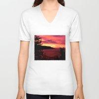 big sur V-neck T-shirts featuring Sunset * Big Sur, California by John Lyman Photos