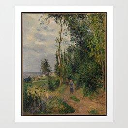 Camille Pissarro - Côte des Grouettes, near Pontoise Art Print