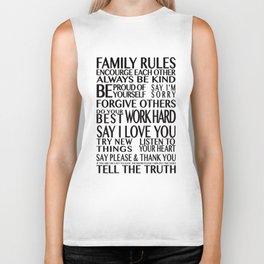 Family Rules 2 Biker Tank