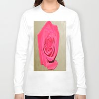 rose gold Long Sleeve T-shirts featuring Gold 'n Rose by Twilight Wolf