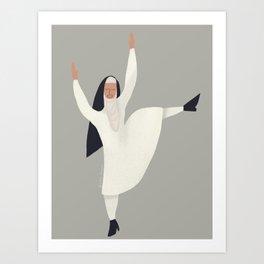 Spring Nun 3 Art Print
