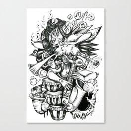Music is Beauty Crumbling - ANALOG zine Canvas Print