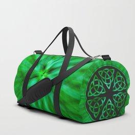 Celtic Knot Star Flower Duffle Bag