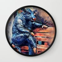 taurus Wall Clocks featuring Taurus by jbjart