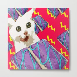 Attack of the breakfast! Metal Print