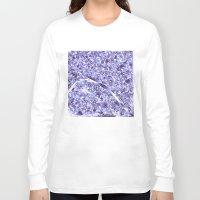 paris map Long Sleeve T-shirts featuring paris map by Bekim ART