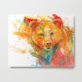 Ursa Major - bear painting Metal Print