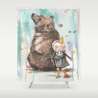 best friends Shower Curtains featuring Best Friends by Heathercook