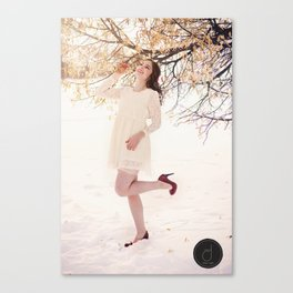 Dancing in winter madness Canvas Print
