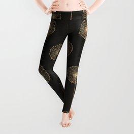 Dandelions (Black) Leggings