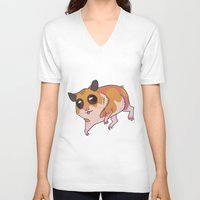 hamster V-neck T-shirts featuring Hamster by Suzanne Annaars