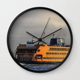 Big Orange Boat Wall Clock