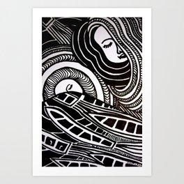 Night Doodle Art Print