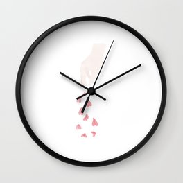 Throwing Flowers For Happines Wall Clock