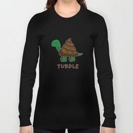 Turdle - Poop - Turtle - 57 Montgomery Art Long Sleeve T-shirt