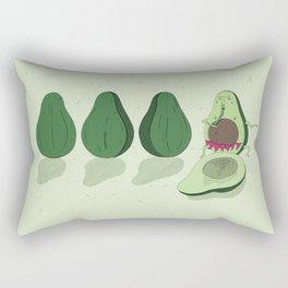 dancing avocado Rectangular Pillow