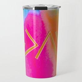 God Is Greater - Tie Dye Travel Mug