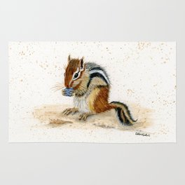 """""""Chippy"""" Chipmunk - animal watercolor painting Rug"""