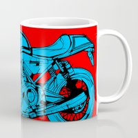 cafe racer Mugs featuring Norton Commando 961 Cafe Racer LOST TIME by Larsson Stevensem