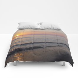 Sunset Beach Waves Comforters