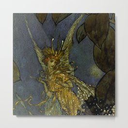 """The Fairy Queen"" Fairy Tale Art by Edmund Dulac Metal Print"