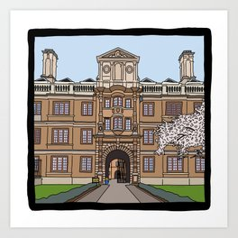 Cambridge struggles: Clare College Art Print