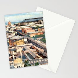 Amazing View from the Ferris Wheel in Chicago 1893 Stationery Cards
