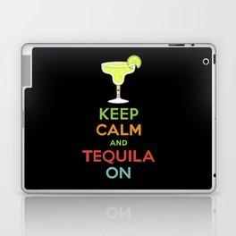 Keep Calm Tequila - black Laptop & iPad Skin