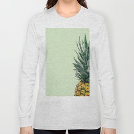 Pineapple in Light Green Long Sleeve T-shirt