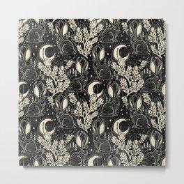 Jackalope - black and cream  Metal Print