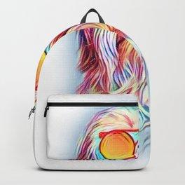 Havanese Neon Dog Sunglasses Backpack