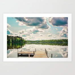 A Basic Dock in Water Art Print