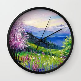 Spring in the Alps Wall Clock