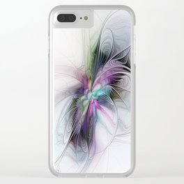 New Life, Abstract Fractals Art Clear iPhone Case