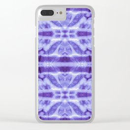 Tie Dye Twos Violet Hues Clear iPhone Case