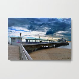 Bournemouth Pier And Beach Dorset Metal Print
