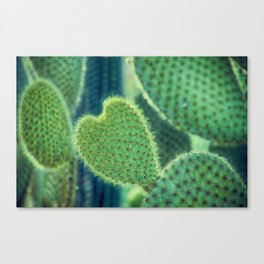 Glowing Heart Canvas Print