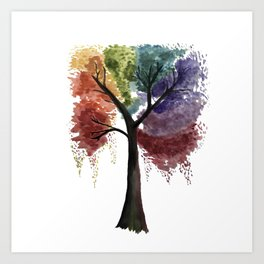 Happy Tree Art Print