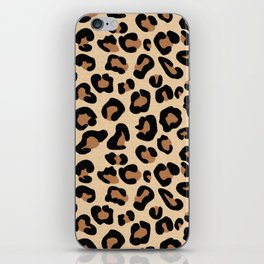 Leopard Print, Black, Brown, Rust and Tan iPhone Skin