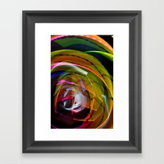 Experiments in Light Abstraction 3 Framed Art Print